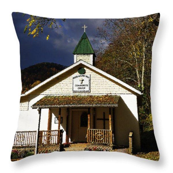 Walnut Grove Church Throw Pillow by Thomas R Fletcher
