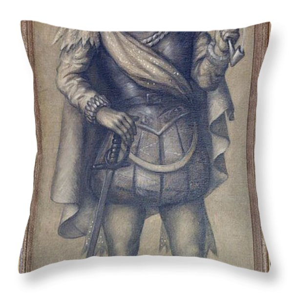 Walter Raleigh, English Explorer Throw Pillow by Photo Researchers