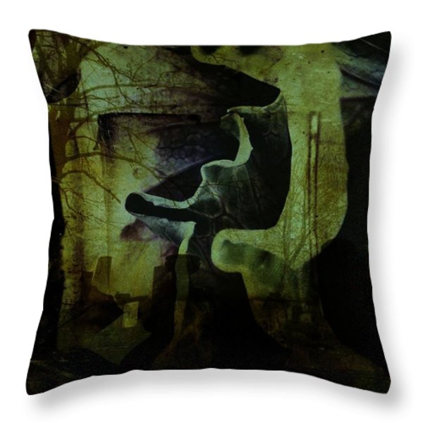Wandering Around Throw Pillow by Shirley Sirois