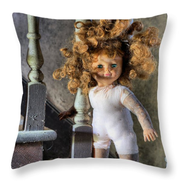 Wanna Go Upstairs And Play Throw Pillow by JC Findley