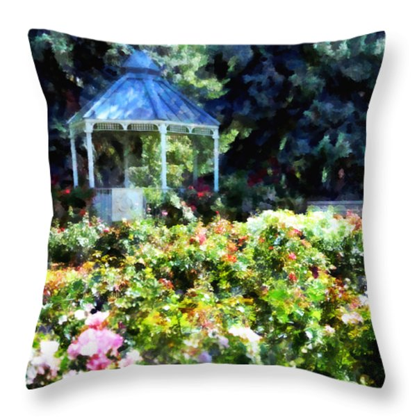 War Memorial Rose Garden 1  Throw Pillow by Angelina Vick