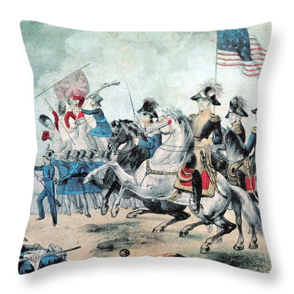 War Of 1812 Battle Of New Orleans 1815 Throw Pillow by Photo Researchers