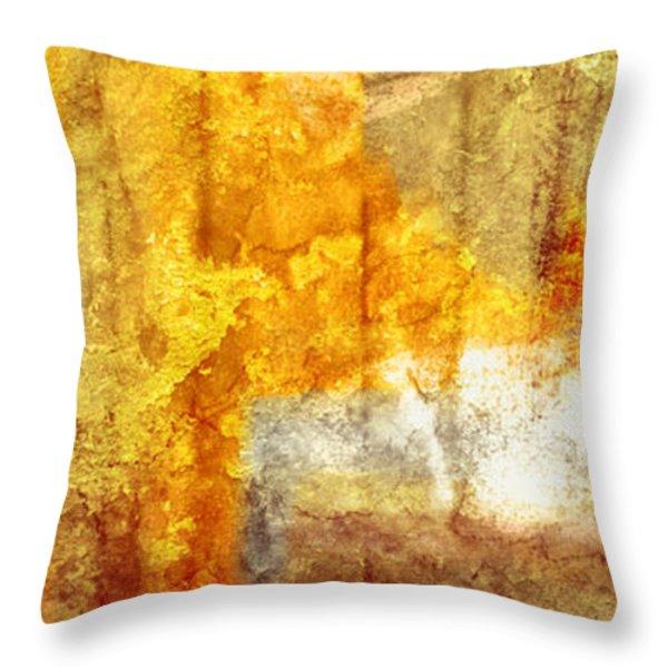 Warm Abstract Throw Pillow by Brett Pfister