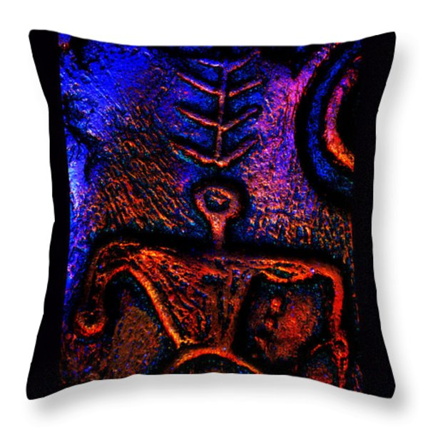 Warrior Guardian Of Truth Throw Pillow by Susanne Still