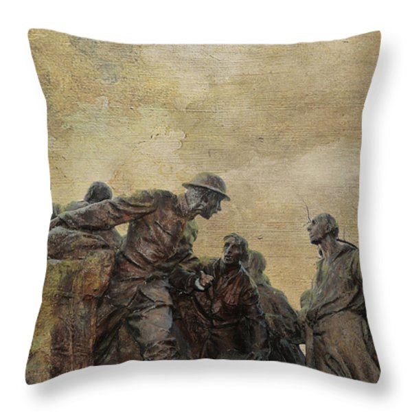 Wars of America Throw Pillow by Paul Ward