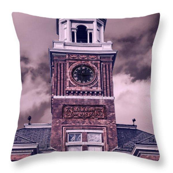 Warwick City Hall Throw Pillow by Lourry Legarde