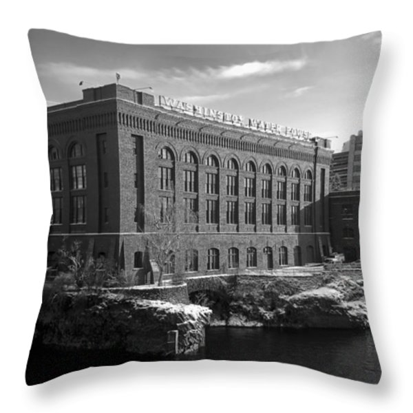 WASHINGTON WATER POWER POST STREET STATION - SPOKANE WASHINGTON Throw Pillow by Daniel Hagerman