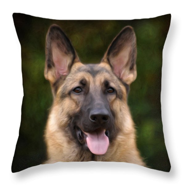 Watchful Throw Pillow by Sandy Keeton