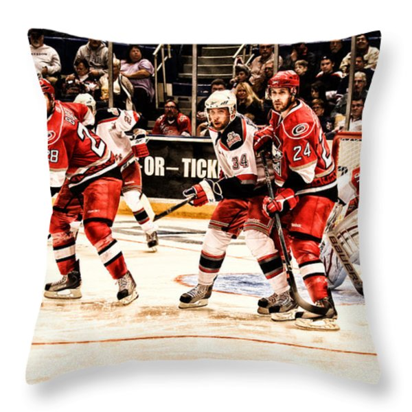 Watching And Waiting Throw Pillow by Karol  Livote
