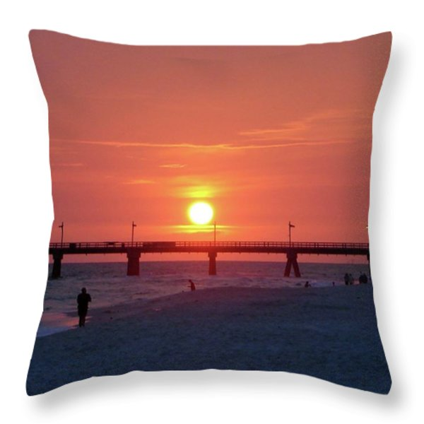 Watching the Sunset Throw Pillow by Sandy Keeton