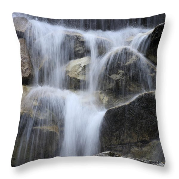 Water And Rocks Throw Pillow by Frank Tschakert