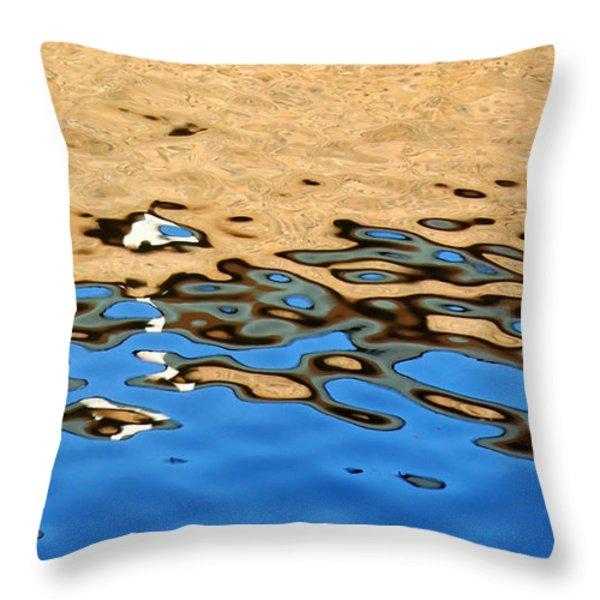 Water Art Throw Pillow by Kaye Menner
