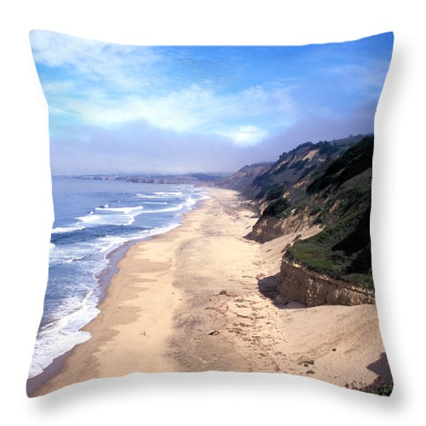 Water Color Sky Throw Pillow by Kathy Yates