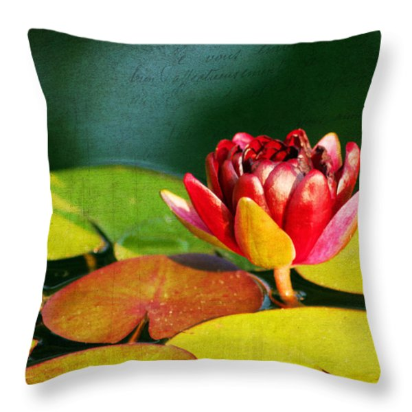 Water Lily II Throw Pillow by Darren Fisher