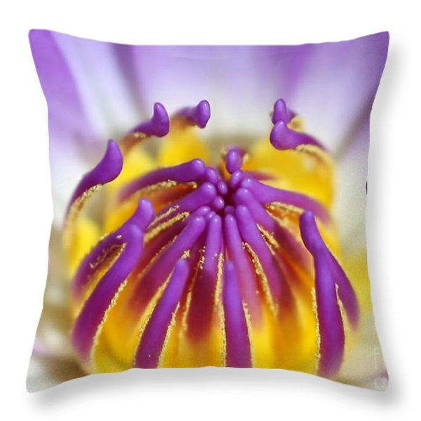 Water Lily Sticky Fingers Throw Pillow by Sabrina L Ryan
