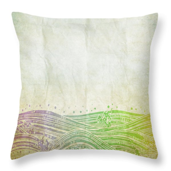 Water Pattern On Old Paper Throw Pillow by Setsiri Silapasuwanchai