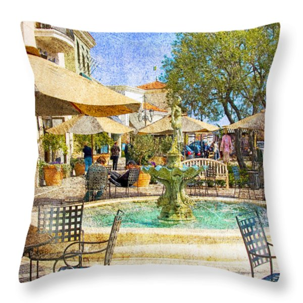Waterside Throw Pillow by Chuck Staley