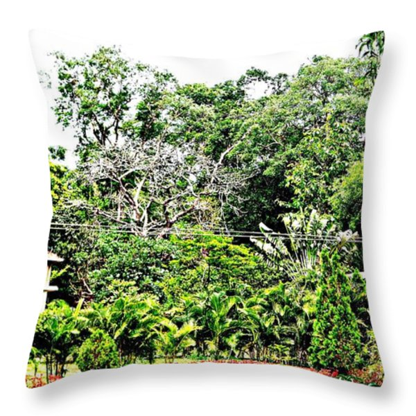 Watz Odd Here Throw Pillow by Piety Dsilva