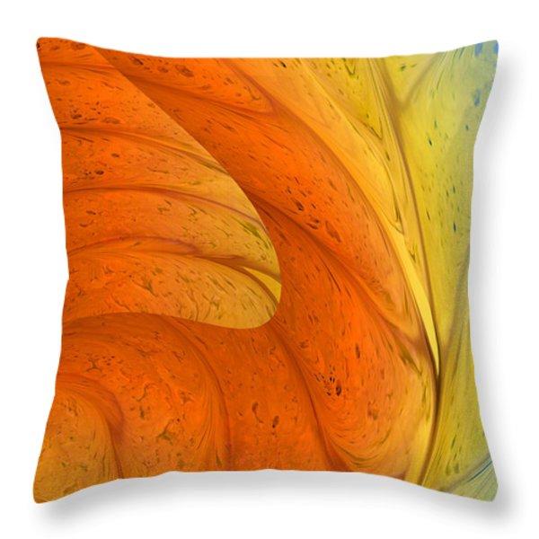 Waves Of Sanity Throw Pillow by Deborah Benoit