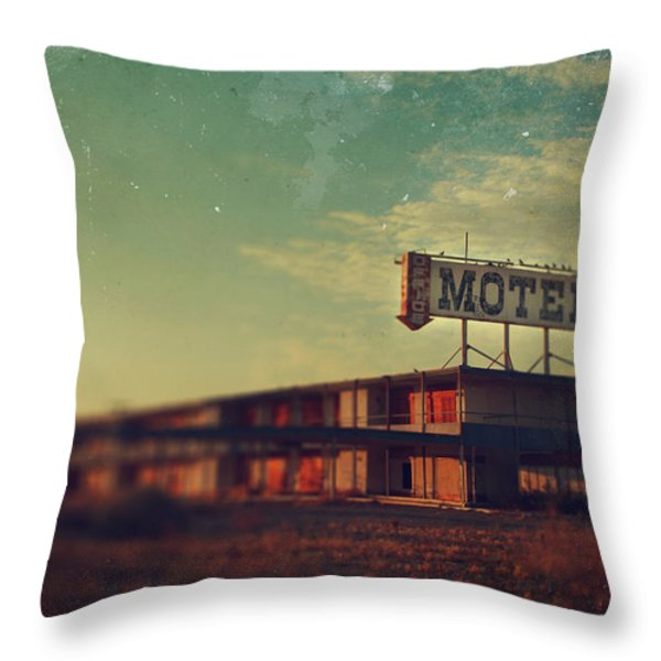 We Met At The Old Motel Throw Pillow by Laurie Search