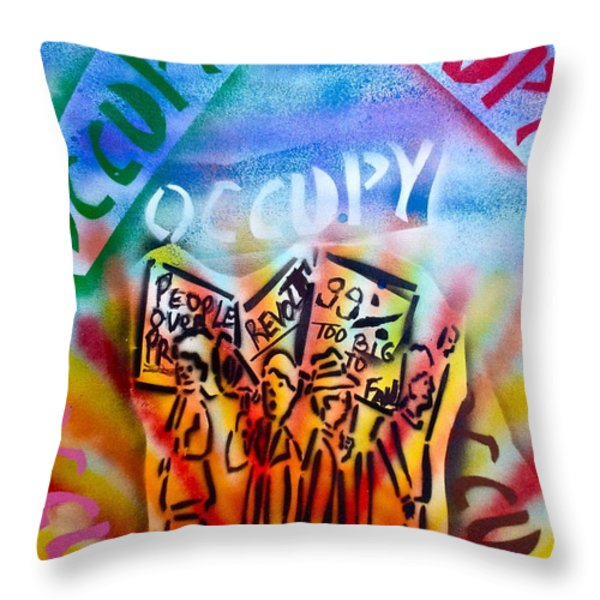 We Occupy Throw Pillow by Tony B Conscious