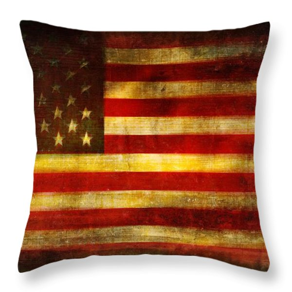 We The People Throw Pillow by Brett Pfister