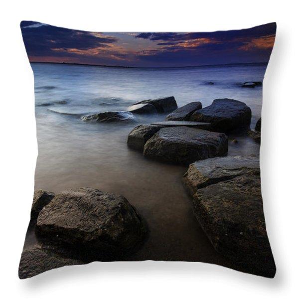 Weathered Throw Pillow by Rick Berk