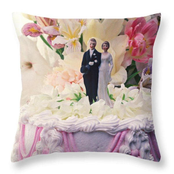 Wedding cake Throw Pillow by Garry Gay