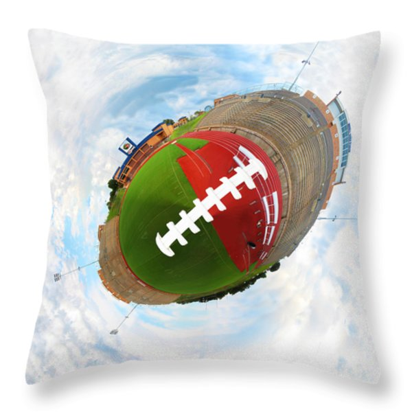 Wee Football Throw Pillow by Nikki Marie Smith