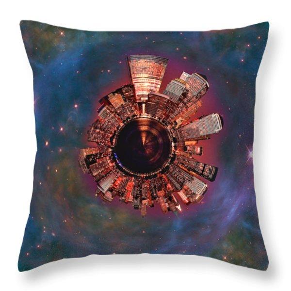 Wee Manhattan Planet Throw Pillow by Nikki Marie Smith