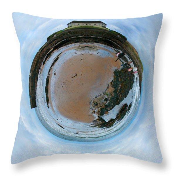 Wee Rossnowlagh Beach Throw Pillow by Nikki Marie Smith