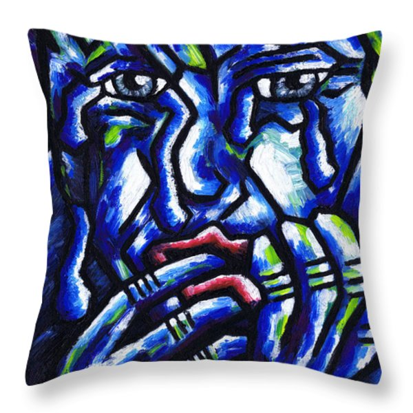 Weeping Child Throw Pillow by Kamil Swiatek