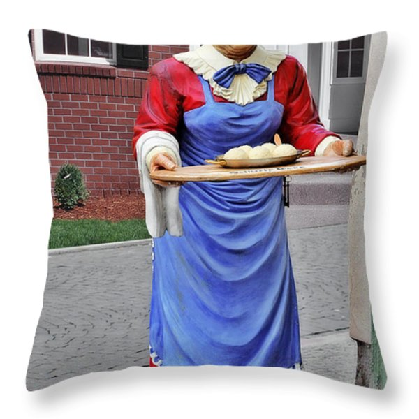Weimarer Kloss-marie  - Thuringia Dumplings - A Famous Classic Throw Pillow by Christine Till