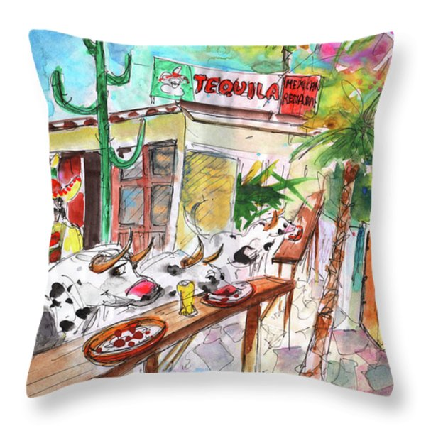 Welcome To Cyprus 03 Throw Pillow by Miki De Goodaboom