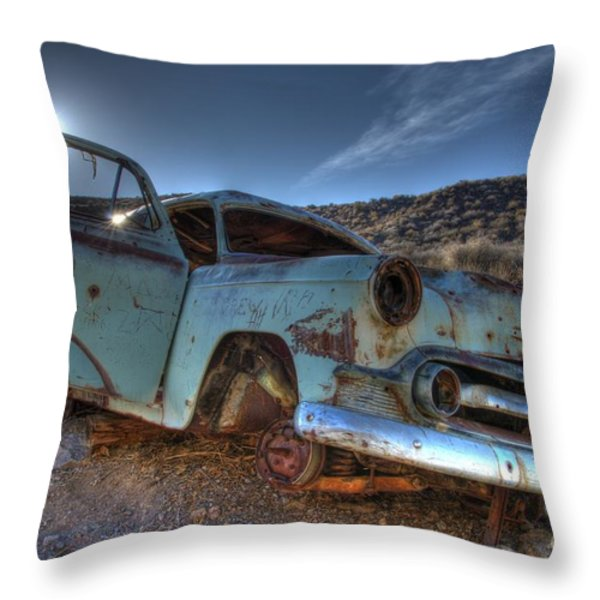 Welcome To Death Valley Throw Pillow by Bob Christopher