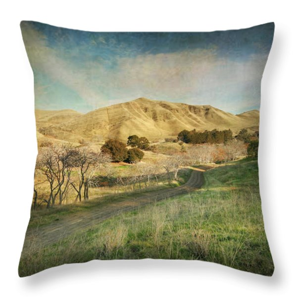 We'll Walk These Hills Together Throw Pillow by Laurie Search