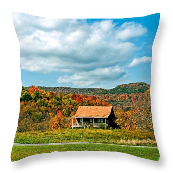 West Virginia Homestead Throw Pillow by Steve Harrington