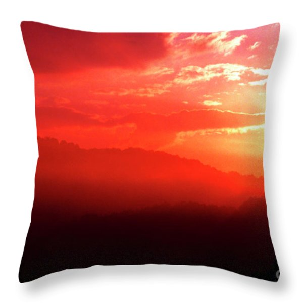 West Virginia Sunrise Throw Pillow by Thomas R Fletcher