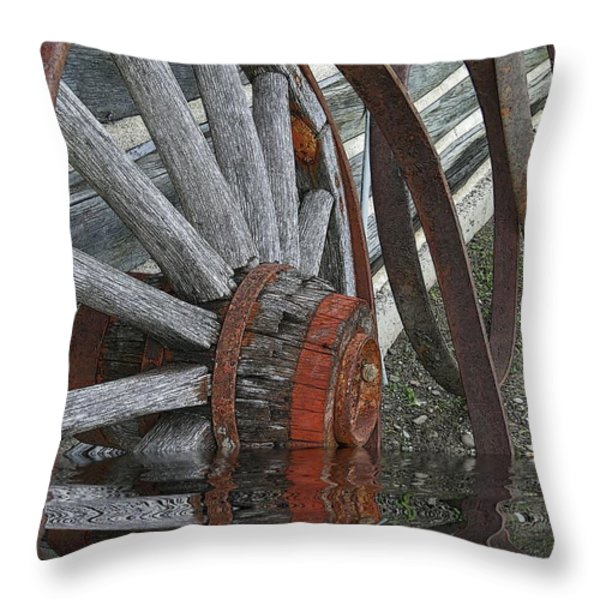 Wet Wheels Throw Pillow by Al Bourassa