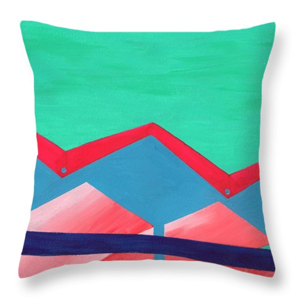 Wexler Folded Roof Seven Throw Pillow by Randall Weidner