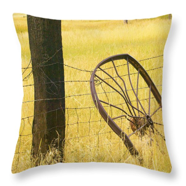Wheel looking for a Tractor Throw Pillow by Rich Franco