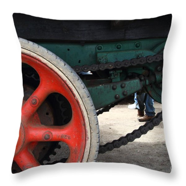 Wheels of Steam Powered Truck 7d15103 Throw Pillow by Wingsdomain Art and Photography