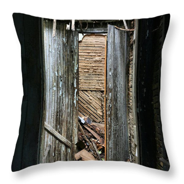 When One Door Closes Throw Pillow by JC Findley