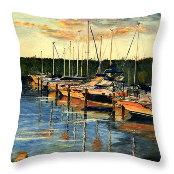 When The Evening Come Throw Pillow by Melly Terpening