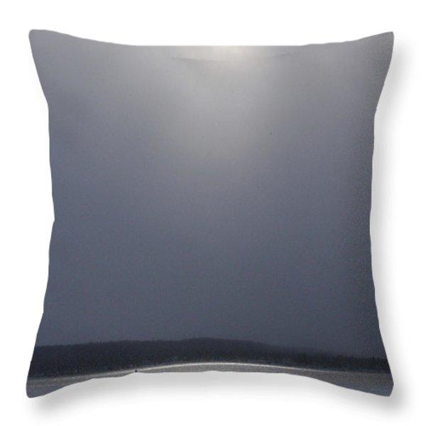 When the Sun Broke through on Canandaigua Lake 2011 Throw Pillow by Joseph Duba
