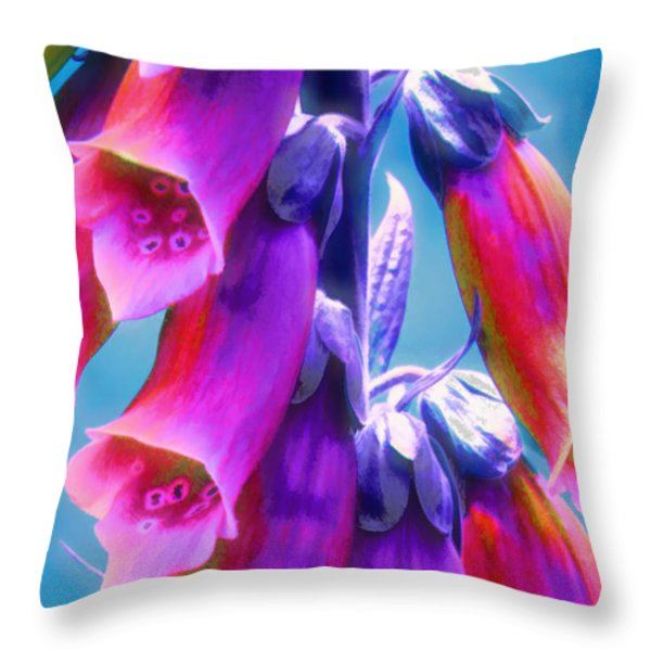 Where Faeries Live - Illustration Throw Pillow by Rory Sagner