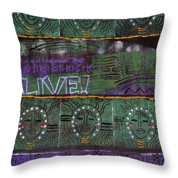 Where Many Are Gathered Throw Pillow by Angela L Walker