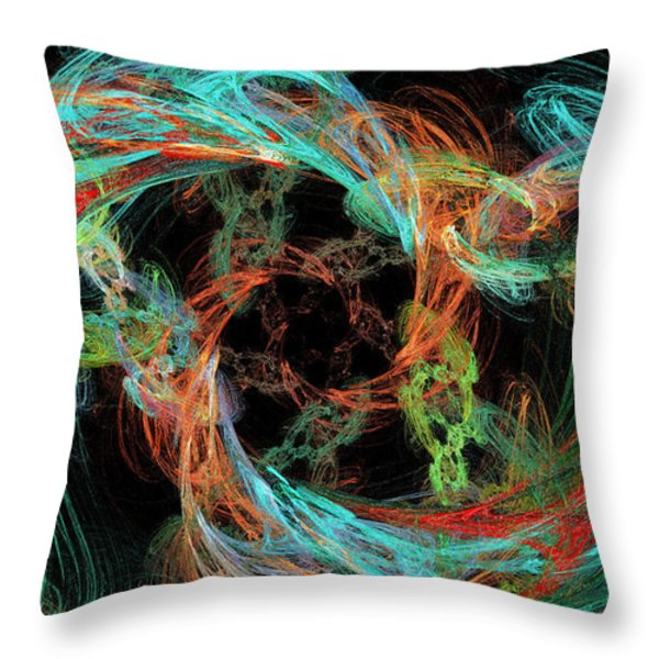 Whirly Gig Throw Pillow by Andee Design