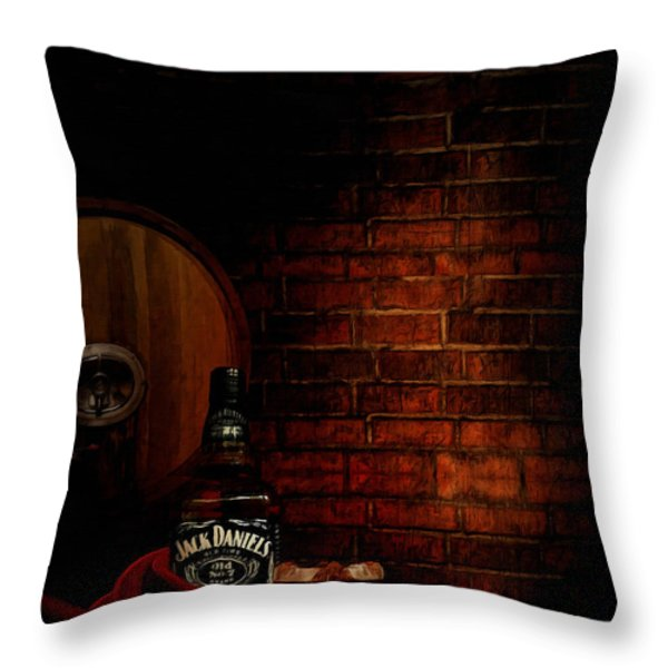 Whiskey Fancy Throw Pillow by Lourry Legarde