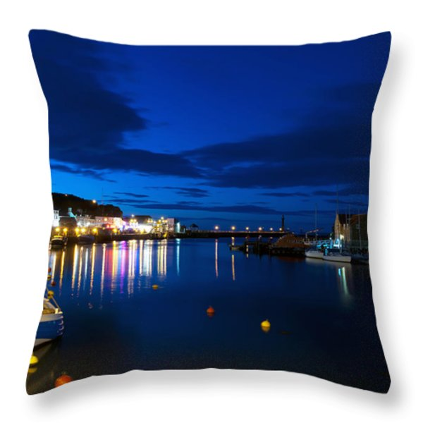 Whitby Lights Throw Pillow by Svetlana Sewell